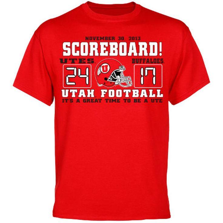 Utah Utes vs. Colorado Buffaloes 2013 Rivalry Week Score T-Shirt - Red