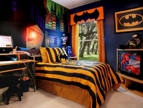 7 Awesome Superhero Themed Bedrooms. http://blog.coldwellbanker.com/7-super-cool-super-hero-themed-kids-bedrooms/