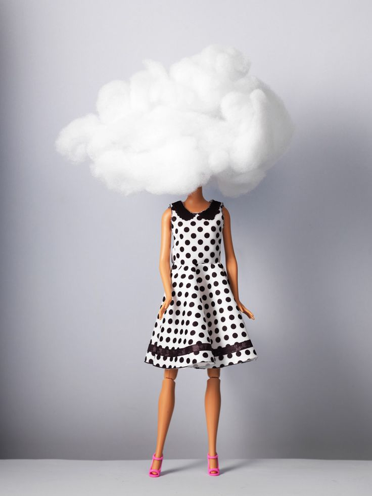 Human interest in JAN Magazine Photography by Frank Brandwijk | 'Barbie Head in the Clouds' 'Photo Illustration' 'Fun'