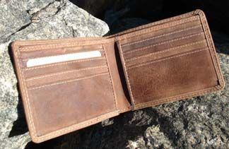 Buffalo-hide wallet by Adrian Klis