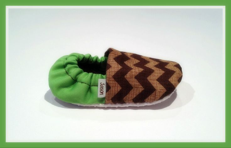 Brown Chevron & Lime Green Baby Booties  www.bellababybooties.weebly.com