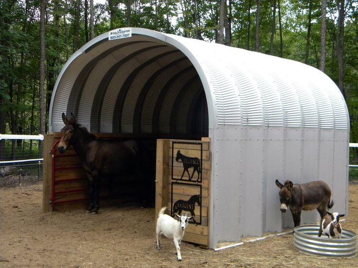 Agricultural Steel Shelter : Steel animal shelter aka urban chicken coop
