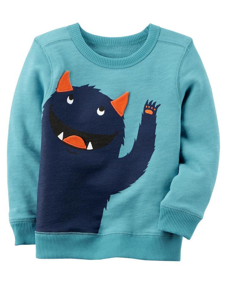 Toddler Boy Monster Sweatshirt | Carters.com