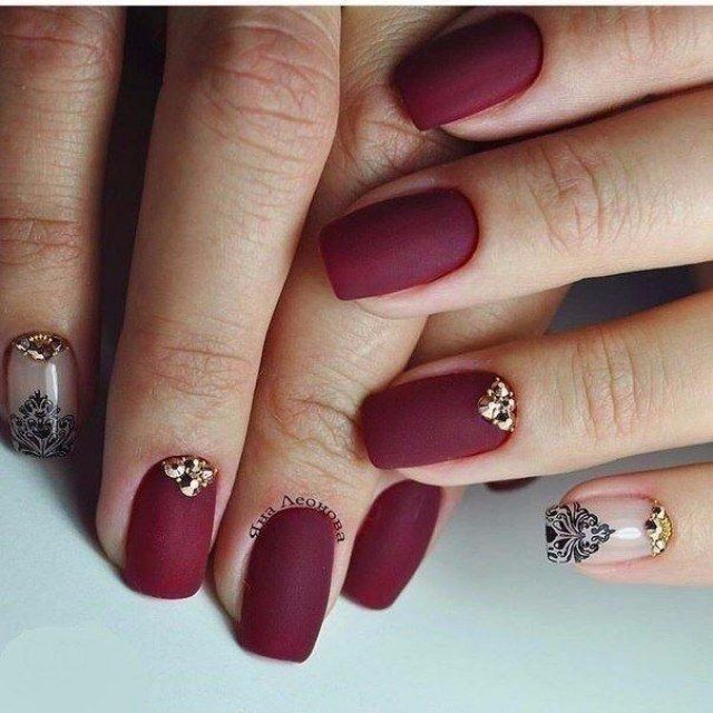 Best 25+ Maroon nail designs ideas on Pinterest | Matte ...