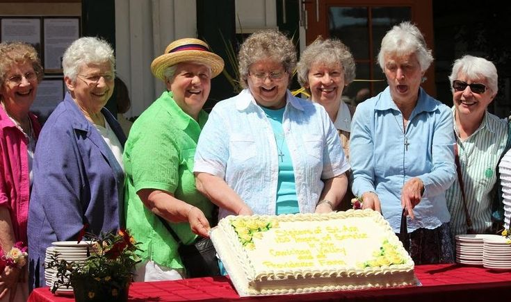 Some of the Sisters of St. Ann celebrate 150 years of service to the Cowichan Valley June 1, 2014, at Providence Farm. (Courtesy of Sisters of St. Ann), National Catholic Reporter, January 2015