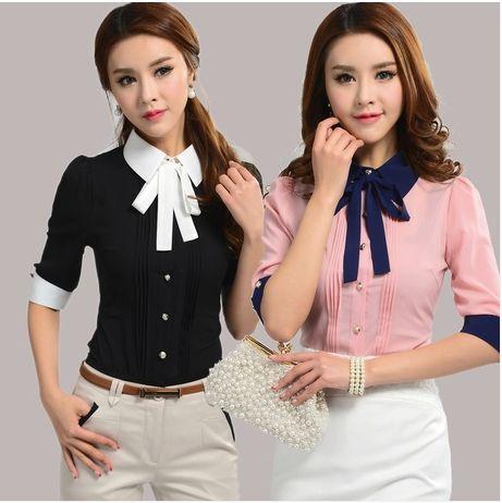 2014 New Fashion Summer women clothing casual tops plus size blouses Korean Slim short sleeve shirt work wear office blouse