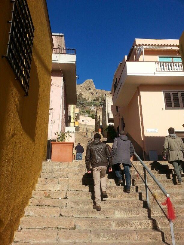 Scale per salire al Castello
