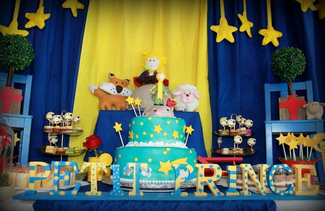 The Little Prince / Petit Prince exupery Baby Shower Party Ideas | Photo 24 of 47