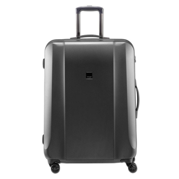 Großer #Koffer TITAN Xenon Deluxe für die #Geschäftsreise bei Koffermarkt: ✓Farbe: graphit ✓4 Rollen ✓ #Polycarbonat-#Hartschalenkoffer ✓113 Liter Volumen ✓Maße: 74x53x31 cm
