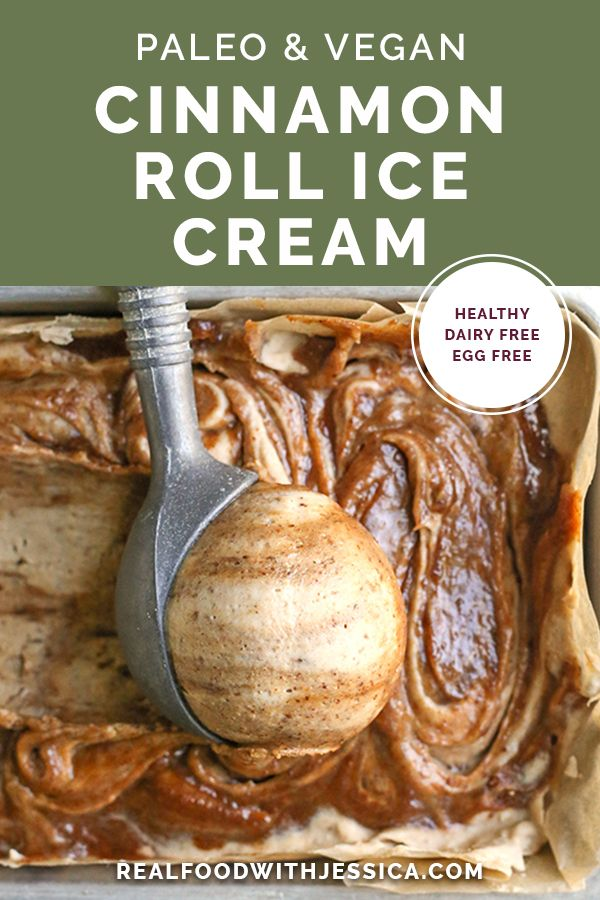 Jul 1, 2020 – This Paleo Vegan Cinnamon Roll Ice Cream is rich, creamy, and the perfect cool treat. A smooth base with a…