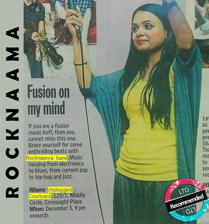 Que: When did #HindustanTimes start sending Live Music Invites :)  Ans: When you are as #rocking as Rocknaama you don't need to create a invite. The invite becomes the news :) & ALL are invited !  Book Rocknaama for gigs/events @ www.localturnon.com/bookings  #turn #ON #music || #turnON #happiness || turnOn #life !  PS: check out the HT City (Delhi / Noida) editions for today (2/12)