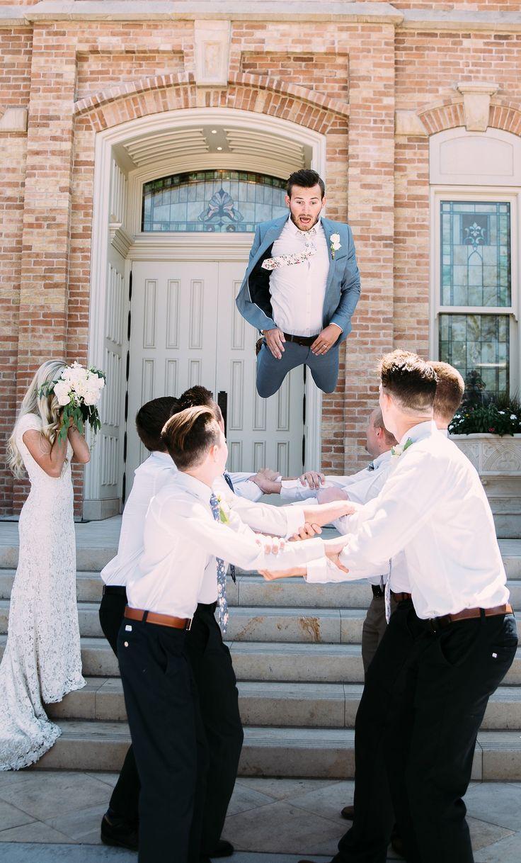 Super lustiges Hochzeitsfoto! Welcher Bräutigam würde sich das trauen?  Quelle: Pixabay
