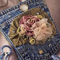 cute jean pocket made into small bag