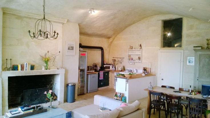 Before & After: French Ruin (Bought for 1 Euro!) Turned Cozy Cave Home — Vocativ   Apartment Therapy