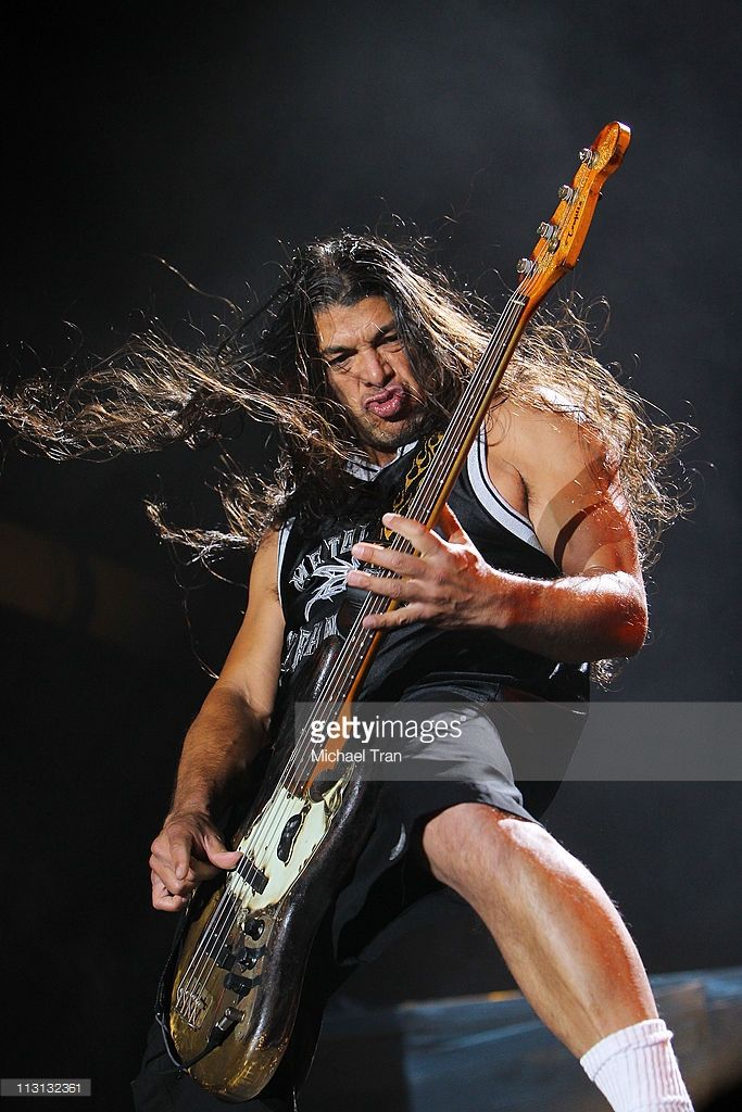 Robert Trujillo of Metallica performs onstage at The Big 4 concert held at The Empire Polo Club on April 23, 2011 in Indio, California.
