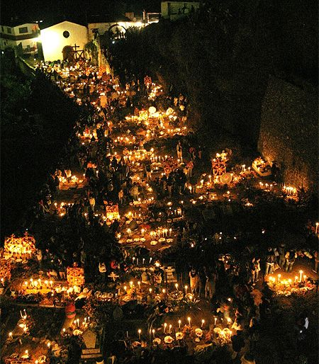 Day of the Dead in Janitzio. Stunning - the entire island lit by candles