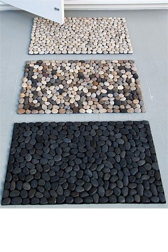 tom binns necklaces DIY Pebble Door Mat for when you step out of the shower