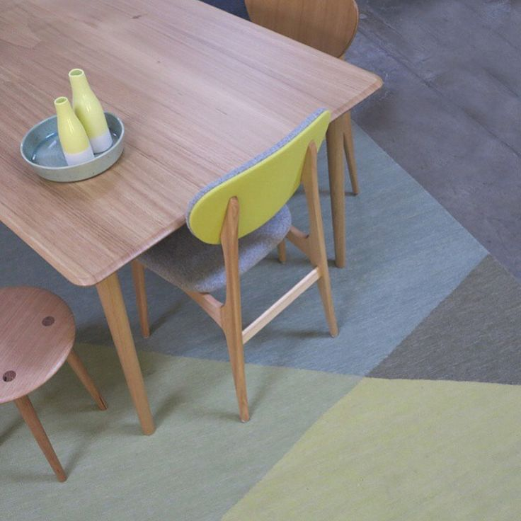 Beautiful soft pastel and citrus tones against our Tuck rug from the Marle Collection | armadillo-co.com