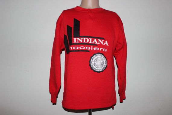 Vintage Indiana Hoosiers Crewneck by SouthsideThrowbacks on Etsy  #vintage #crewneck #fashion #college #indiana #hoosiers