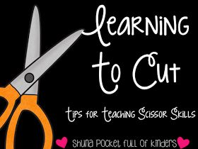 Pocket Full of Kinders!: Learning To Cut Going to try this with my kinder