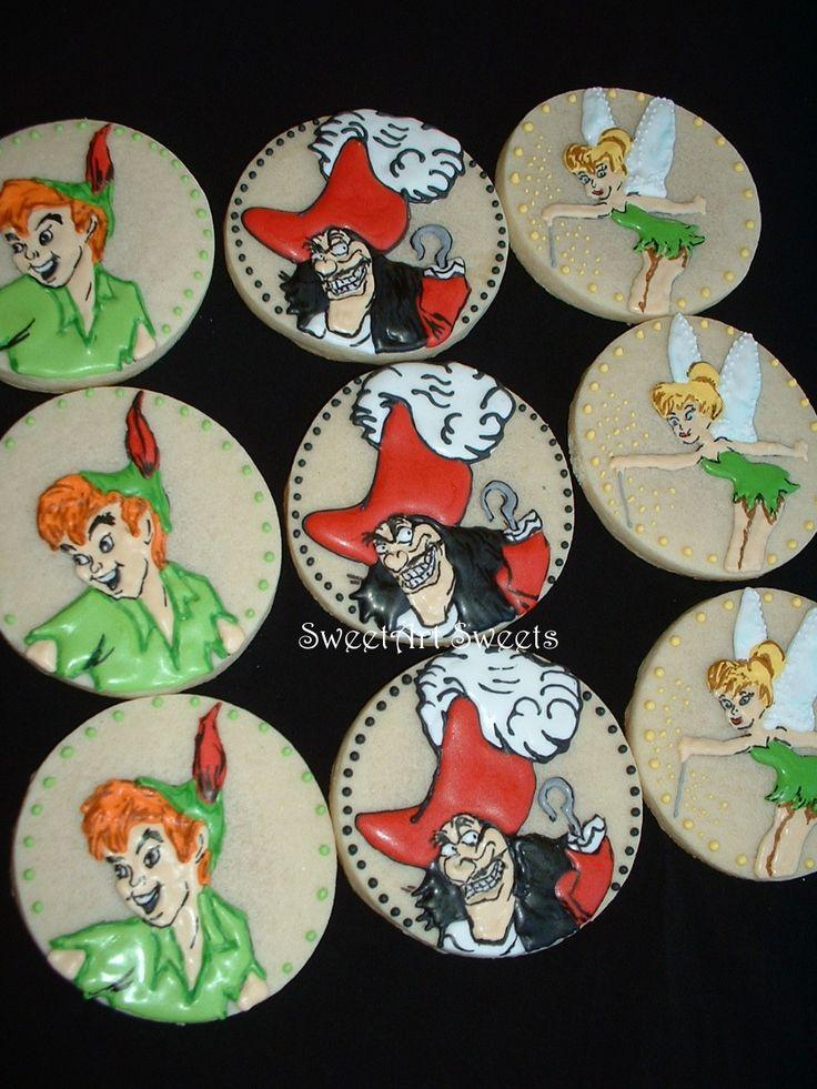 Peter Pan cookies <3 www.facebook.com/SweetArtSweets