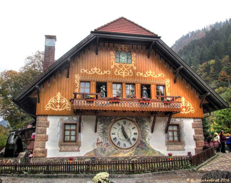 https://flic.kr/p/HvsHJc | Drubba Cuckoo Clock Factory, Black Forest, Germany | Cuckoo Clock Shop, Wuerttemberg, Germany in the Black Forest. The Black Forest (German Schwarzwald) is a large forested mountain range in the state of Baden-Württemberg in southwestern Germany. Print size 8x10 inches. Happy Window Wednesday