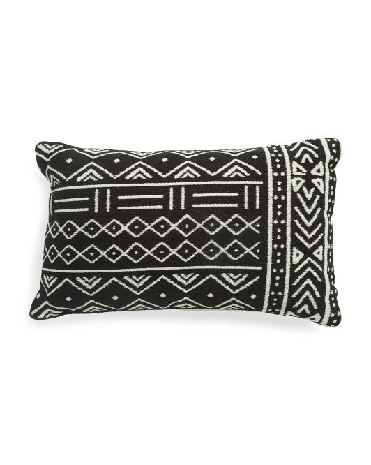 Made In India 16x26 African Mudcloth Jacquard Pillow Throw Pillows T J Maxx African Mud Cloth Mud Cloth Pillows