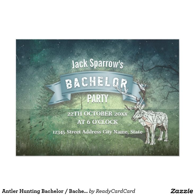 Antler Hunting Bachelor Bachelorette Stag Party