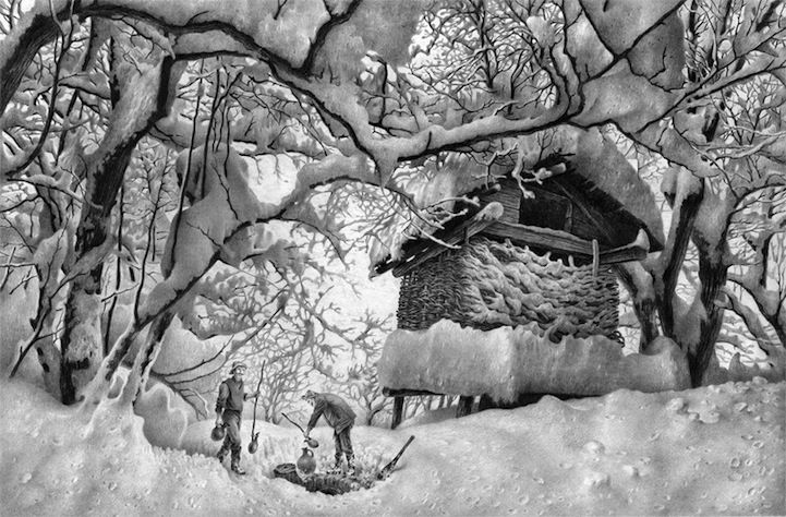 Can you believe this is done with pencil?! Artist is Guram Dolenjashvili