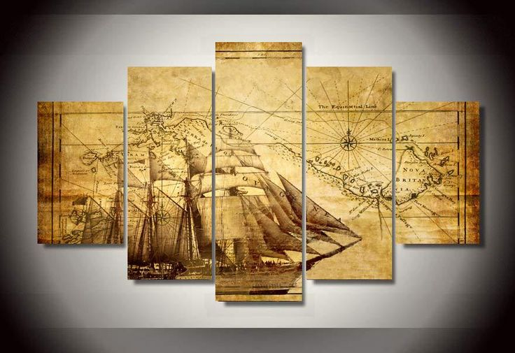 HD Printed old map Painting on canvas room decoration print poster picture canvas framed Free shipping/bb987 #Affiliate