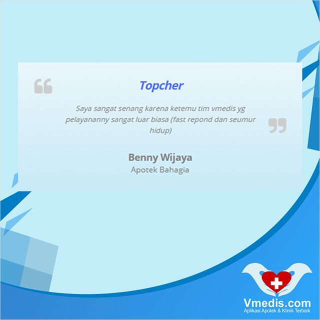 Topcher Benny Wijaya Apotek Bahagia Pakaivmedis Vmedis