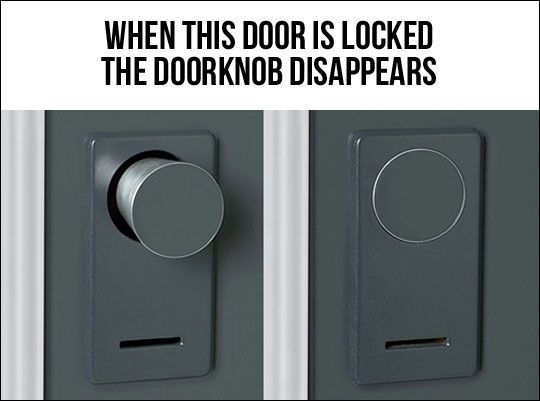 Genius. This would be nice. Not for the person trying to get in.