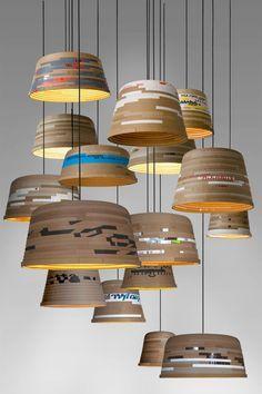 beute lamp, Lampenschirm, recyceling, wellpappe, unikat, herrwolke, passagen…