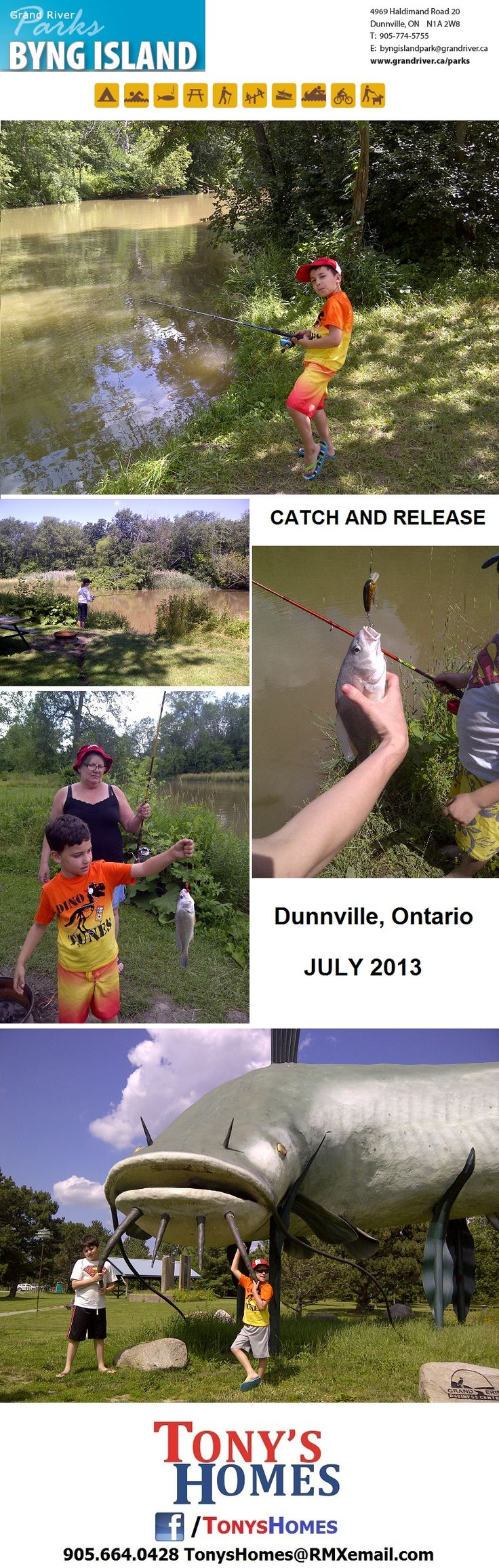 Gone Fishin' Byng Island Dunnville, Ontario July 2013