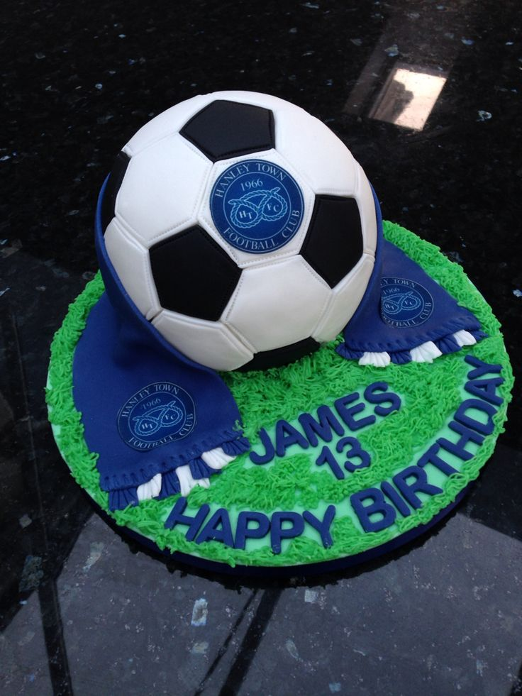 Football cake for Hanley Town FC player - he absolutely loved it
