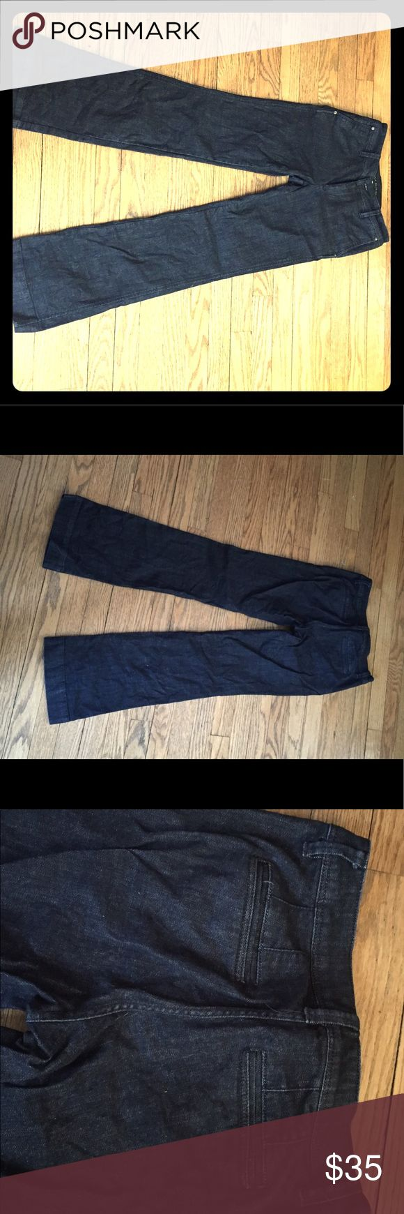 "Banana Republic Trouser Jeans Banana Republic wide leg trouser jeans.  Excellent like-new condition!  26 short (30"" inseam) Banana Republic Jeans Flare & Wide Leg"
