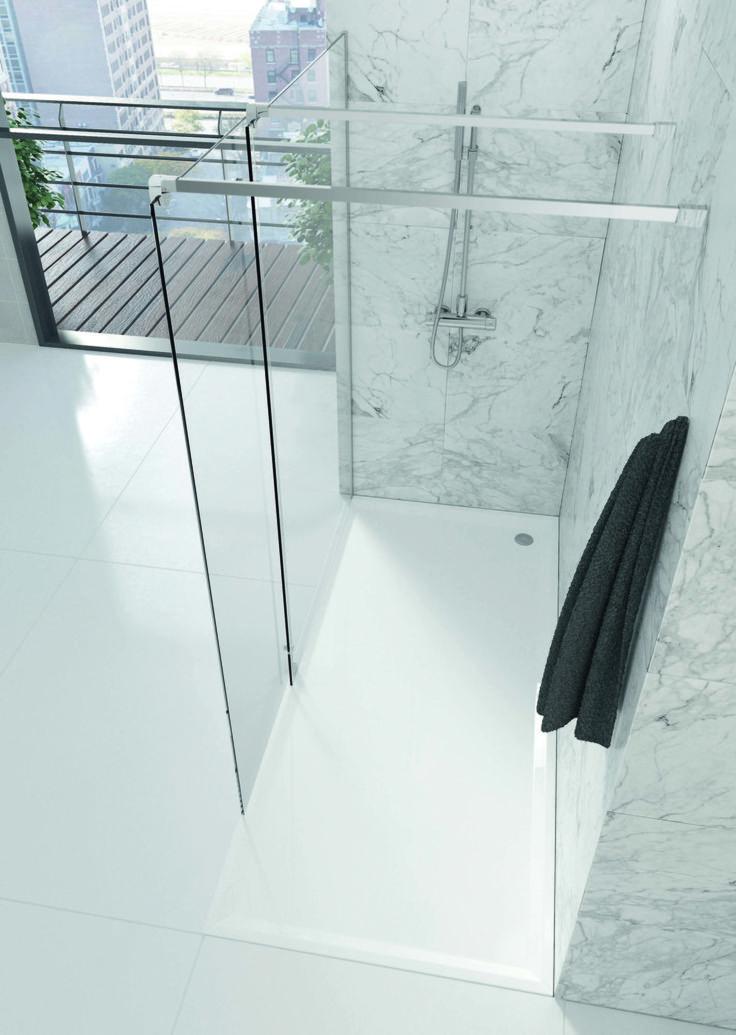 Mamparas personalizables para los cuartos de baño más amplios