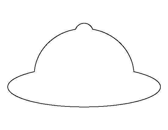 Safari hat pattern. Use the printable outline for crafts, creating stencils, scrapbooking, and more. Free PDF template to download and print at http://patternuniverse.com/download/safari-hat-pattern/