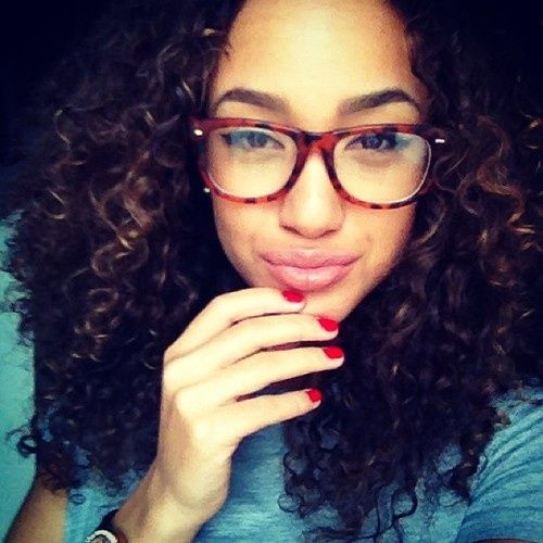 Curls and glasses