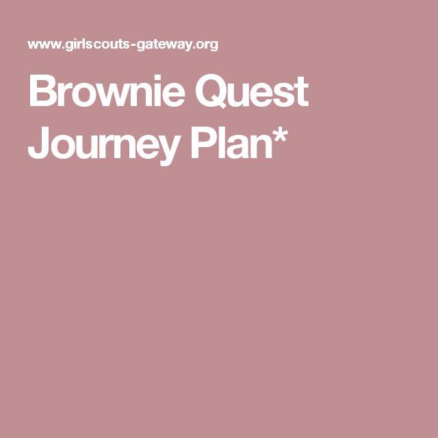 Brownie Quest Journey Plan*