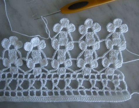 Crochet edging with corner ~~