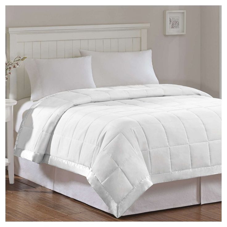 Bed Blanket Prospect Microfiber Down Alternative with 3M Scotchgard Finish (Full/Queen) White