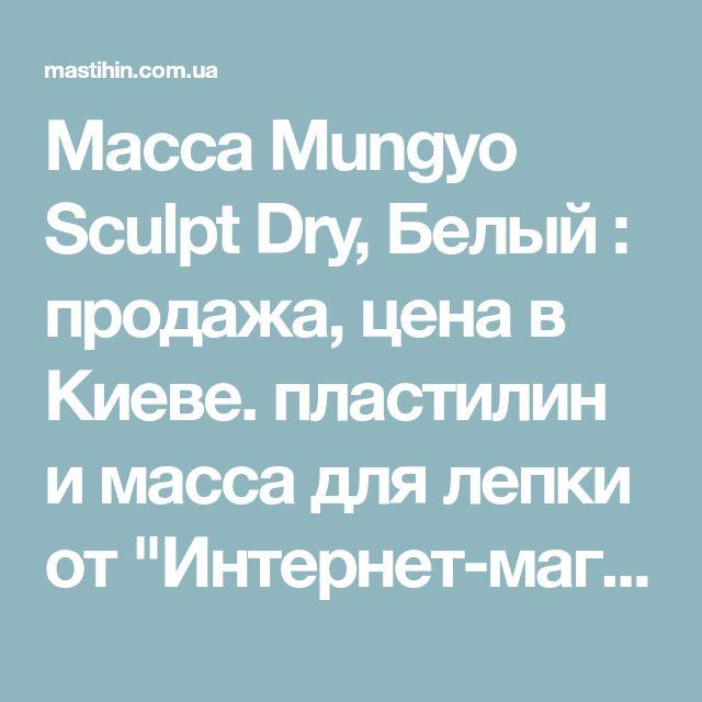 """Масса Mungyo Sculpt Dry, Белый : продажа, цена в Киеве. пластилин и масса для лепки от """"Интернет-магазин «Мастихин»"""" - 69146138"""