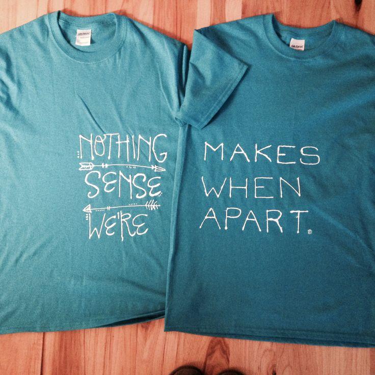 Shirts made for Sadie Hawkins Dance(: