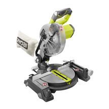 """Check out this RYOBI product -  Introducing the new and improved RYOBI 18V ONE+ Miter Saw. It has a compact and lightweight design which is great for moving it jobsite to jobsite, or for any DIY projects around your home. It's 2x4 cutting capacity and 4 ¼"""" cross cut capacity make it a great tool for your small projects. With an adjustable 0-45 degree bevel, you are not limited to one cut. The RYOBI 18V Miter Saw runs of any RYOBI ONE+ 18V battery and makes a great addition to your ONE…"""