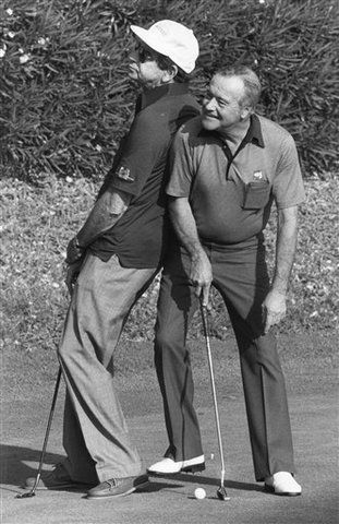 "Buddies JACK LEMMON and WALTER MATTHAU at the 1983 ""Matthau Lemmon Golf Classic"" Charity Fundraiser"