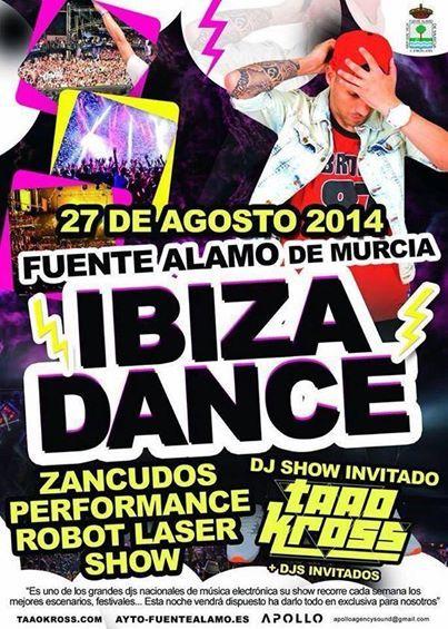 Y después del desfile de disfraces, gran espectáculo de IBIZA DANCE con el Dj invitado Taao Kross