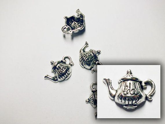 CLEARANCE Antique silver tea pot by rabbitssupplies on Etsy
