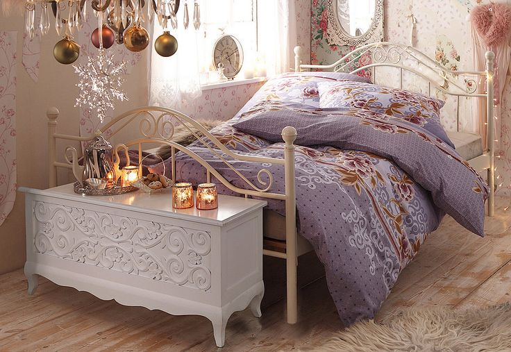 bettw sche young collection new york lion mit motiv hope chest shabby chic style and. Black Bedroom Furniture Sets. Home Design Ideas