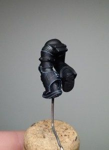 Painting Black Power Armour by Giovanni Di Lena - figurementors